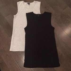 J Crew XS grey and black Tank tops